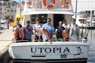 A good catch, bottom fishing with Utopia               Charters.